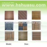 環境に優しい木製のプラスチック合成のdeckingまたは床タイルかdiyタイル