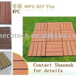 Chaude! Eco- amicalequalité bois plastique composite deck/carrelage/carrelage composite decking/bricolage. tuiles./plancher extérieur