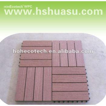 Natural Feel Wood Plastic Composite Decking Boards/eco-friendly wood plastic composite decking/floor tile