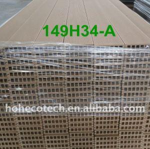 Suelo al aire libre 149*34mm decking del wpc piso junta/wpc suelo compuesto de madera y madera