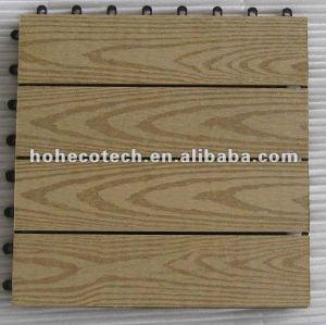 interlocking wood plastic tile