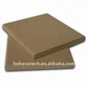 90*10mm 7 colori a scegliere di legno wpc plastico composito decking/pavimentazione bordo piano ( ce, rohs, astm ) piano decking di wpc