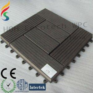 wood plastic composite outdoor garden tiles