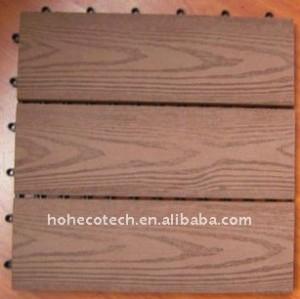 Fashional famiglia/esterni diy pavimentazione macchina di estrusione wpc decking piastrelle