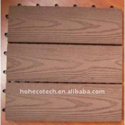Fashionalの世帯か屋外DIYのフロアーリングの放出機械WPC Deckingの床タイル