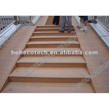 Recycled waterproof Eco new material plastic and natural wood feeling project WPC Outdoor Decking flooring