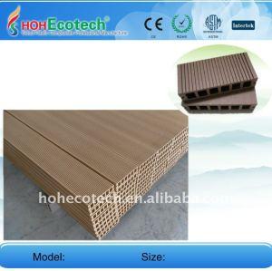 Plancher composé en plastique en bois de decking de WPC/de decking de wpc de panneau de plancher wpc du plancher 149*34mm