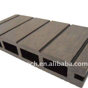 Plancher composé en plastique en bois creux de decking de la conception WPC/de decking de wpc de panneau de plancher wpc du plancher 150*25mm