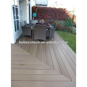 Green deco material wood plastic wpc outdoor hollow decking flooring,WPC Boardwalk Decking , plastic lumber board