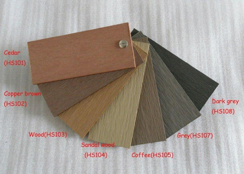 color chart after sanding