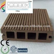 cubierta compuesta del compuesto del piso del wpc del piso hueco del decking