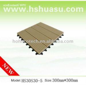 ecotech wpc composite DIY decking tile, CE, ROHS, ISO9001,ISO14001)