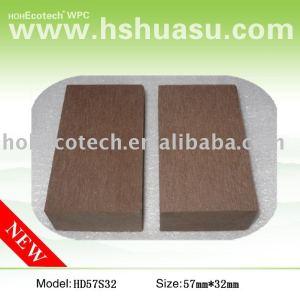 Panneau de plancher de bonne qualité de wpc, brun d'en cuivre