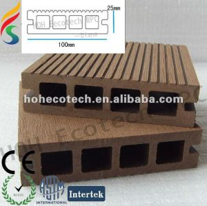 wpc decking/wood plastic composite/hollow decking