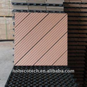 la construcción de cubiertas de materiales compuestos wpc compuesto plástico de madera wpc suelo de baldosas