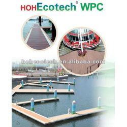 環境に優しい(木製のプラスチック合成物の) wpc装飾的な屋外のdeckingまたは階段deckingか庭のdecking