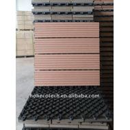WPC合成の屋外WPC DIYのデッキのタイルの歓迎された木製のプラスチック合成のフロアーリングの建築材料