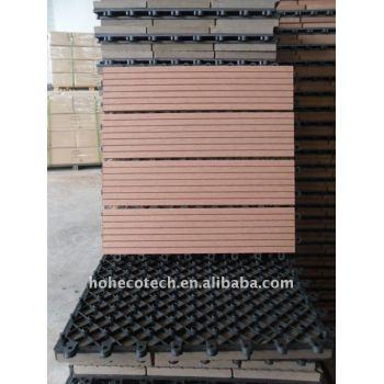 Welcome Wood Plastic Composite Flooring Building Materials of WPC Composite outdoor WPC DIY deck tile