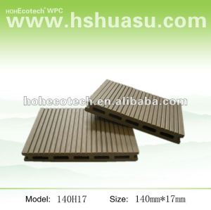Water Resistant Plastic Composite light sanding deck 140*17mm