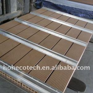 Scherma wpc fatta di wpc decking di wpc bordo legno decking composito di plastica/pavimentazione decking di wpc
