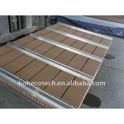 wpcのdecking板WPC木製のプラスチック合成のdeckingから成っているwpcの囲うか、またはwpcのdeckingに床を張ること