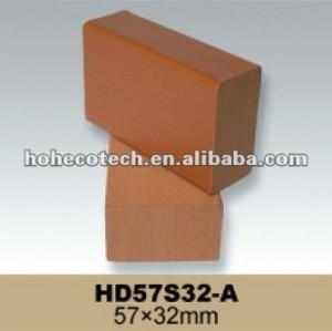 Decking composé en plastique en bois de poutrelle de WPC, bois de charpente en plastique, Decking de WPC