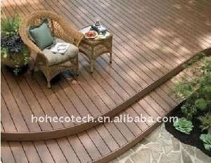 La décoration de sol extérieur! Imperméable à l'eau wpc platelage wpc platelage composite bois plastique/plancher