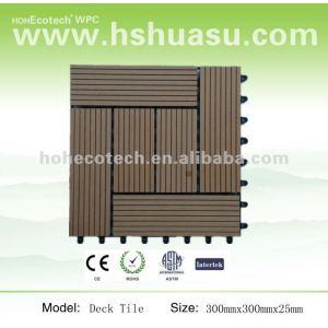 eco-friendly wood plastic composite tile wpc floor tile