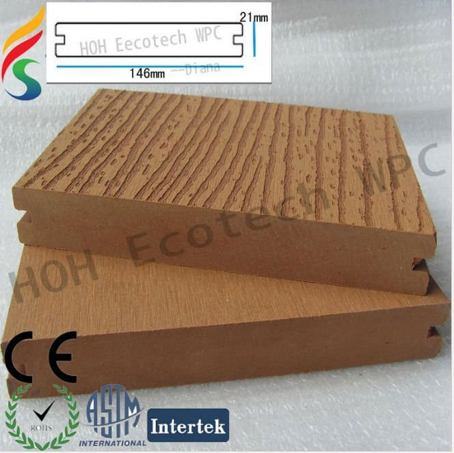 Wpc decking outdoor recycled plastic board recycled for 6 metre decking boards