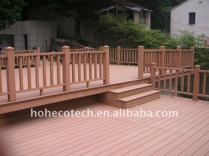 Wpc decking outdoor recycled plastic board recycled for Recycled plastic decking