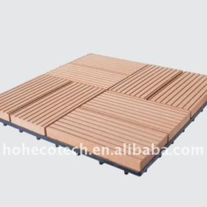 Directamente de fábrica! Popular de madera al aire libre/de bambú cubiertas de plástico de madera wpc decking azulejos
