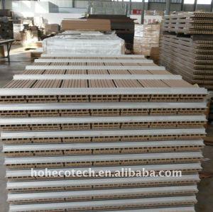 Decking de WPC/wpc composés en plastique en bois du plancher 160x25mm clôturant le decking de wpc de conseil de /fence