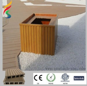 hölzerner zusammengesetzter Plastikbodenbelag