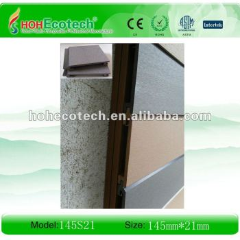 wpc outdoor wall panels(ISO9001,ISO14001,ROHS,CE)