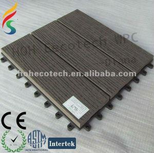 Escuro cor de plástico ao ar livre mobiliário de madeira - materiais wpc