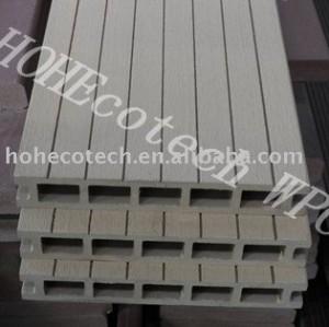 Madera decking compuesto plástico/piso