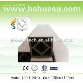 Wood plastic composite wpc post 120*120mm