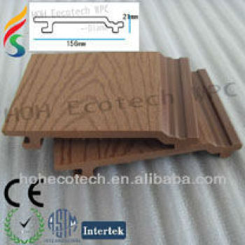 plastic wood outdoor decorative wall cladding/weather board