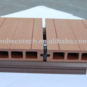 Qualità di garanzia liscio o levigatura effetto legno - compositi di plastica pavimentazione di wpc decking bordo bordo