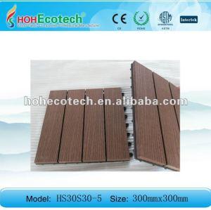 Superfície de gravação wpc composto telha de diy/ piso telhas