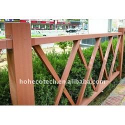 庭のdeckingは囲うか、または柵で囲むWPCの合成物をタイルを張る