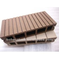 Coffee color polished WPC decking