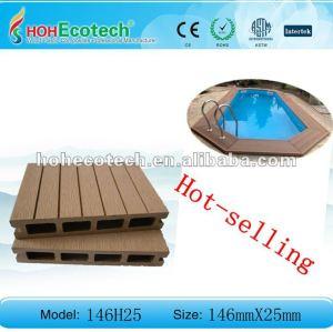 Hot selling! Recycled water-proof wpc waterside decking floor