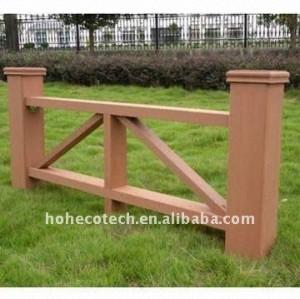 Non-peinture, wpc résistant imperméable, ignifuge, UV clôturant la barrière composée de jardin de wpc de barrière de wpc