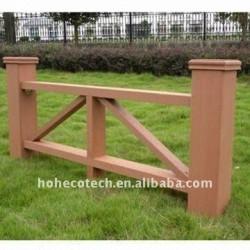 非ペンキ、wpcの塀のwpcの合成の庭の塀を囲う耐候性がある、防火効力のある、紫外線抵抗力があるwpc