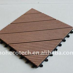 Diy design impermeável interior/exterior/domésticos pisos azulejo composto wpc pisos
