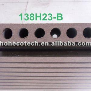 Hoh ecotech agujero redondo impermeable wpc decking/azulejo de piso