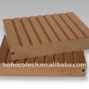 Estável ranhuras bordo decking de wpc wood plastic composite decking/placas de revestimento