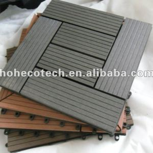 fácil instalação wpc bloqueio telhas decking de wpc decking diy telhas