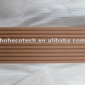 Tanto la superficie acanalada 145x21mm al aire libre de mimbre/madera decking compuesto plástico de madera decking/suelo junta cubierta de teja wpc madera